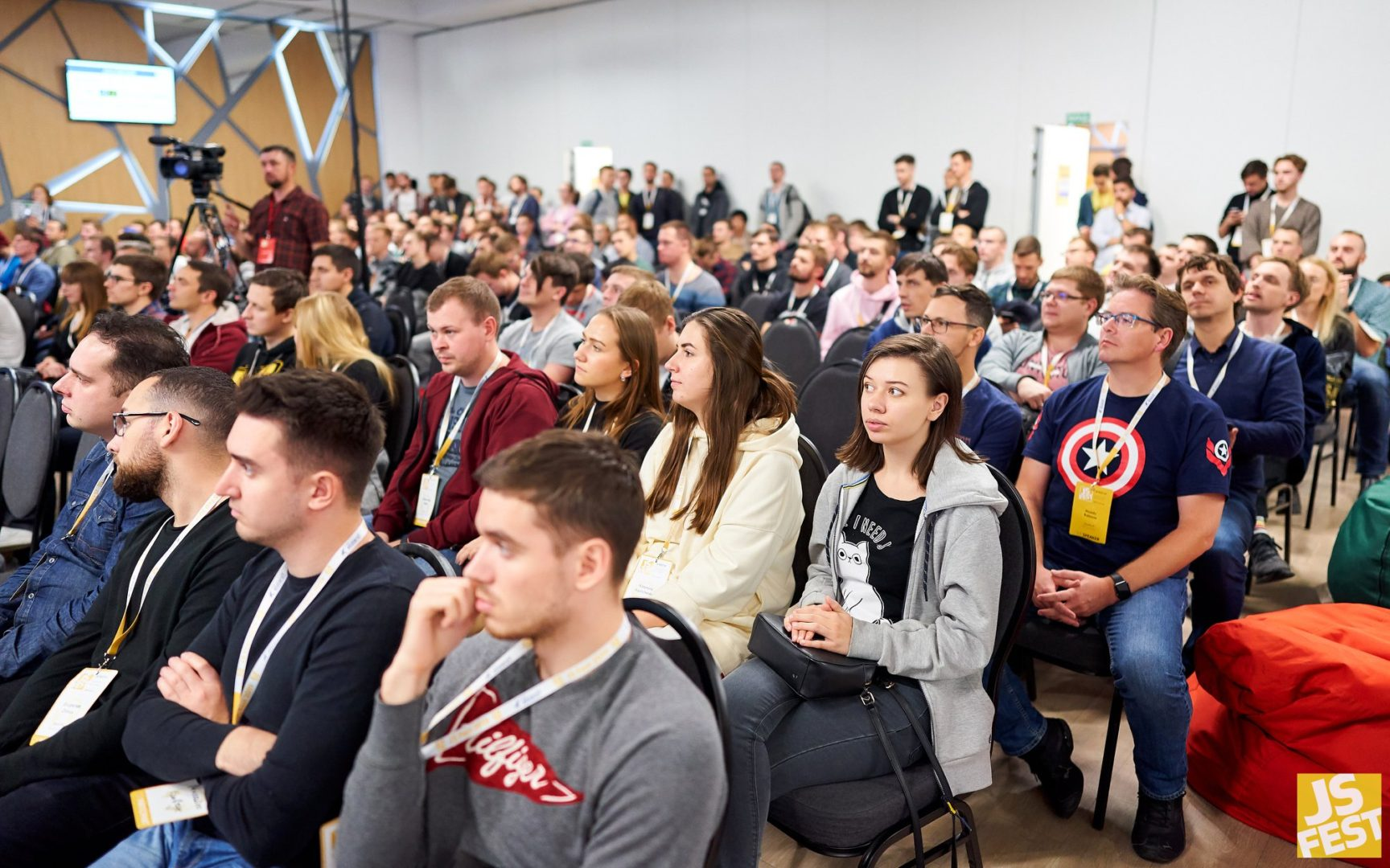 people attending international javascript conference in kyiv