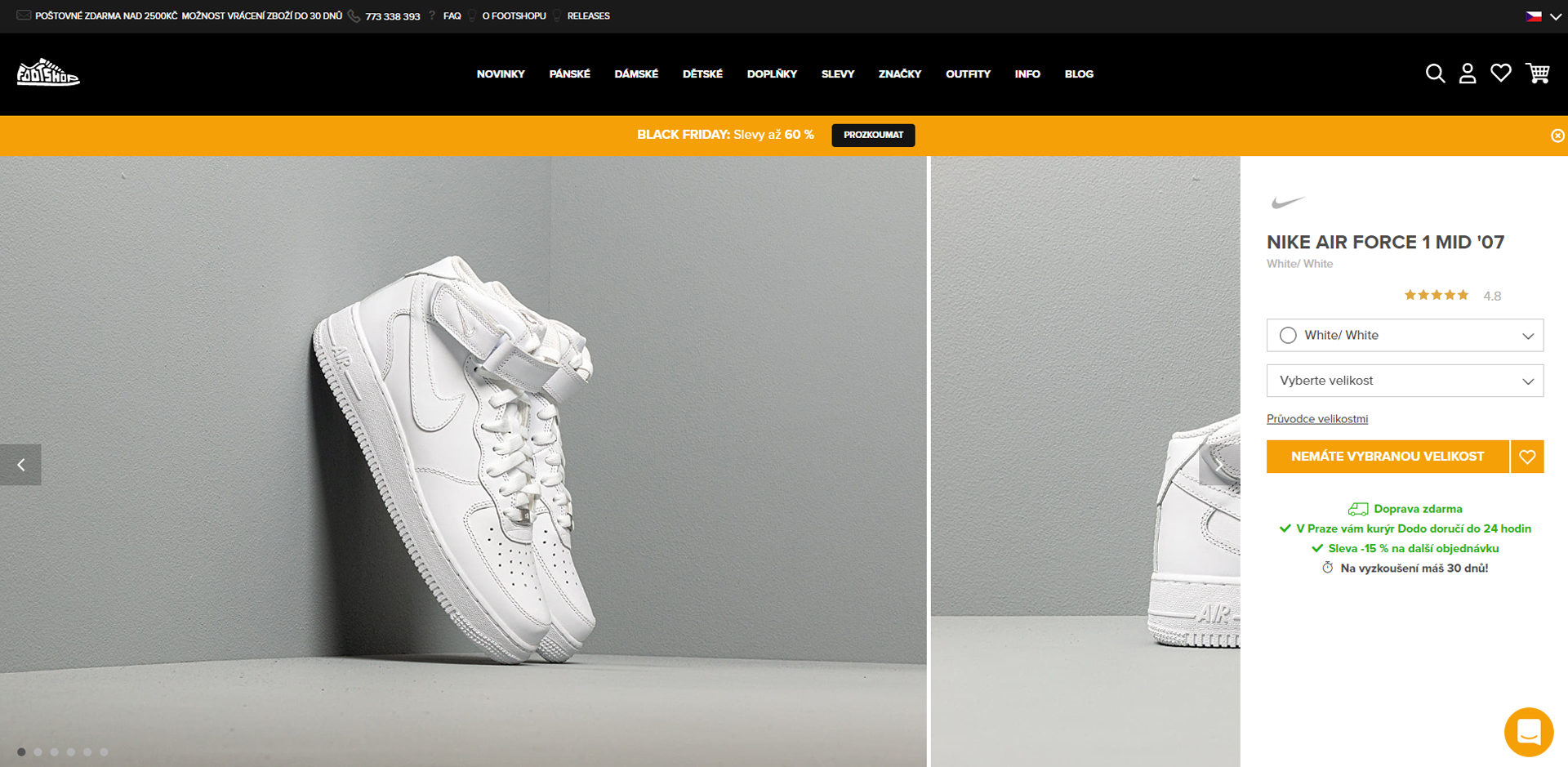 ecommerce website product page after redesign