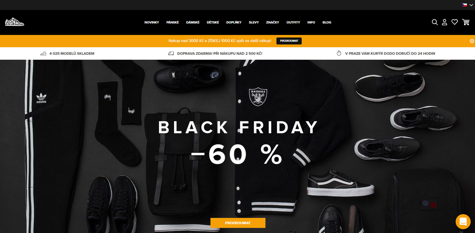 ecommerce website home page after redesign