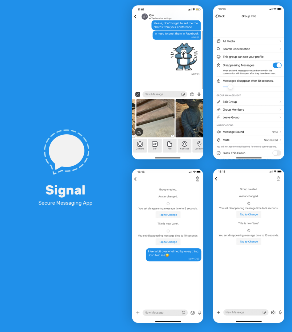 Signal secure chat software